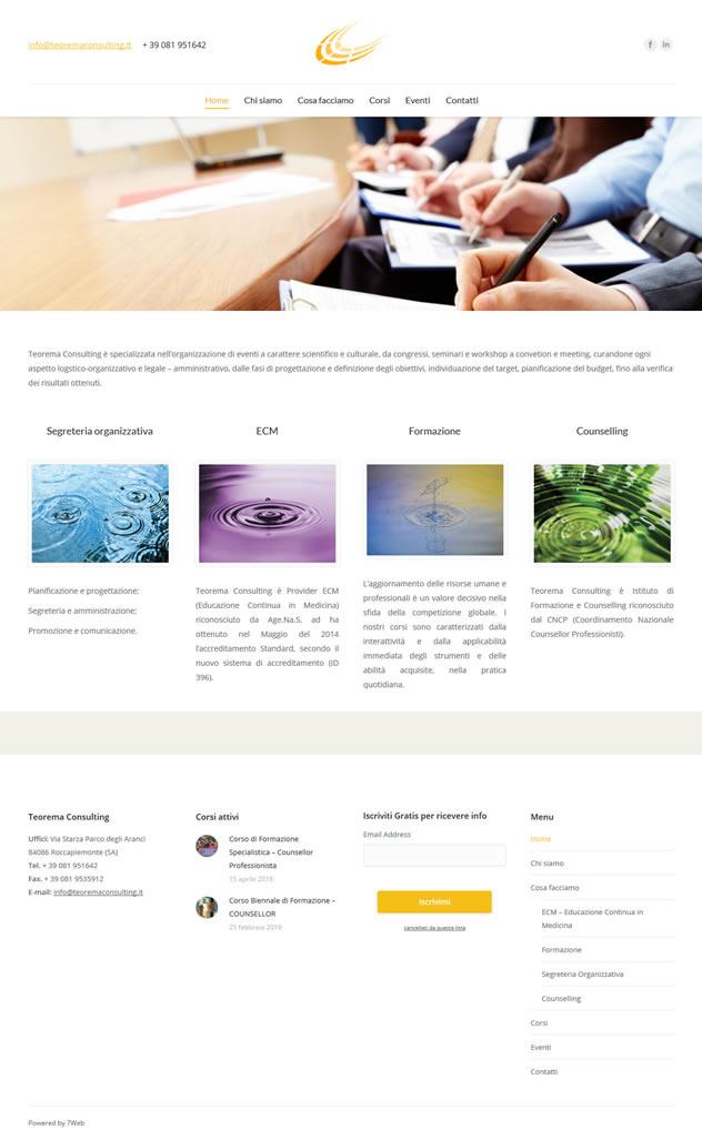 Teorema Consulting - Setteweb.it - Portfolio Web