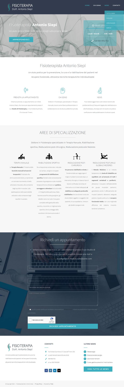 Fisioterapista Antonio - www.fisioterapista-antoniosiepi.it - Sito web 7Web