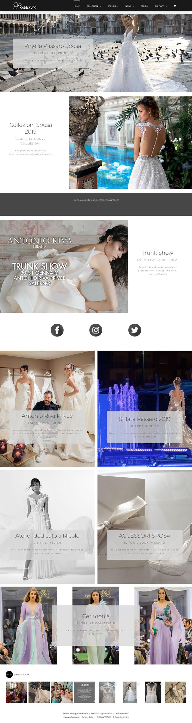 Passaro Sposa - Abiti da sposa ed abiti da cerimonia - Collezioni 2019 - 7Web - ecommerce abbigliamento