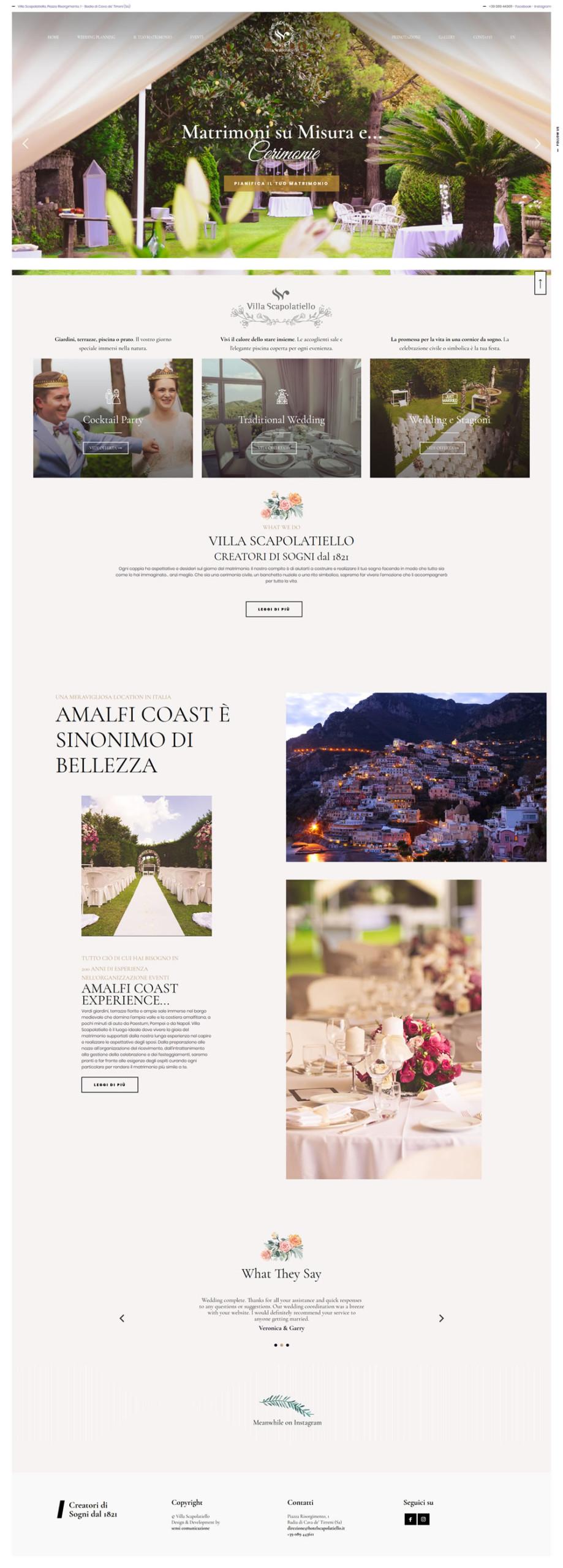 Villa Scapolatiello - Setteweb.it Portfolio Sito Web WordPress 7Web-2019
