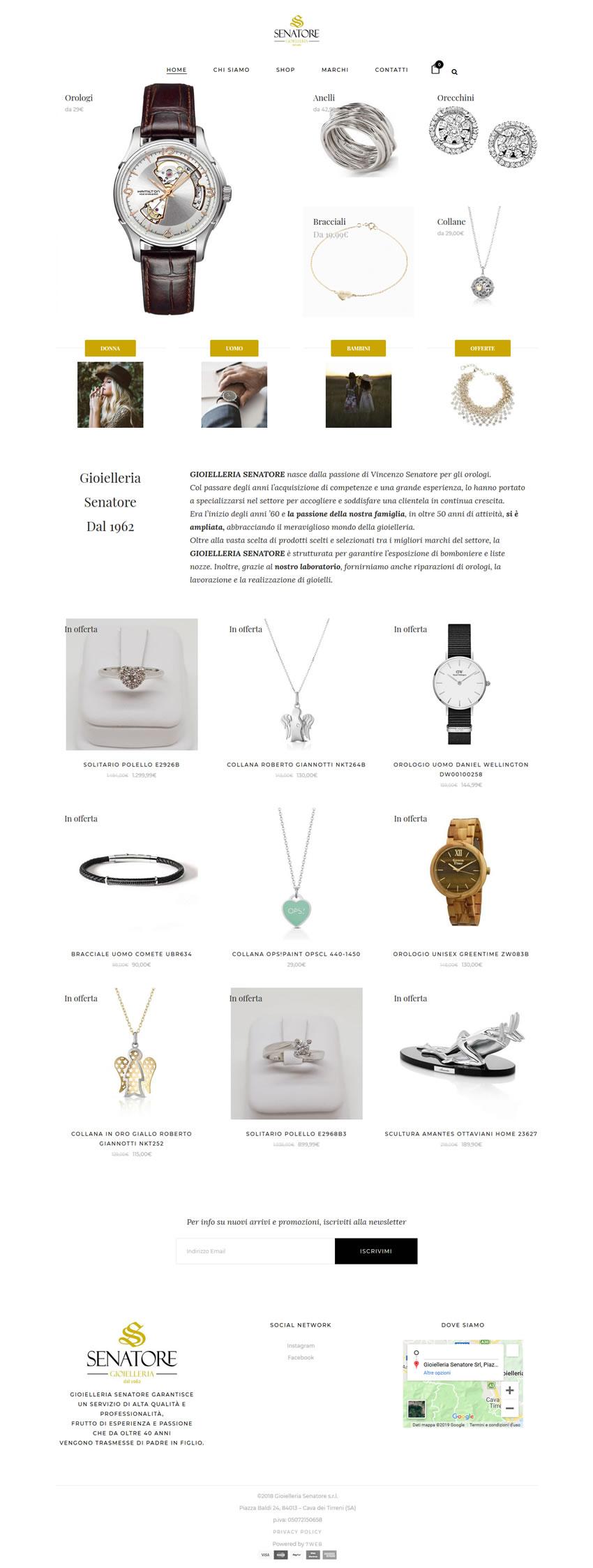 Gioielleria Senatore - Shop - Ecommerce - 7Web