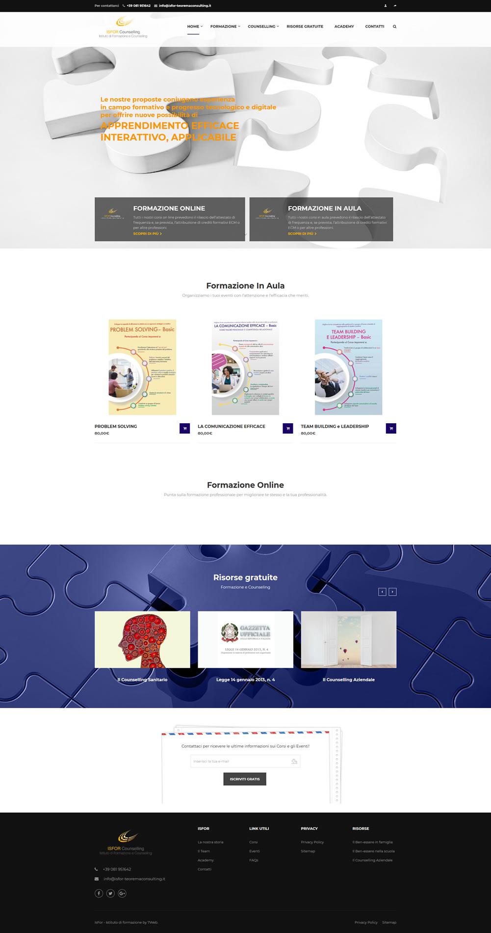 IsFor - Istituto di Formazione e Counselling - 7Web LMS - SetteWeb.com