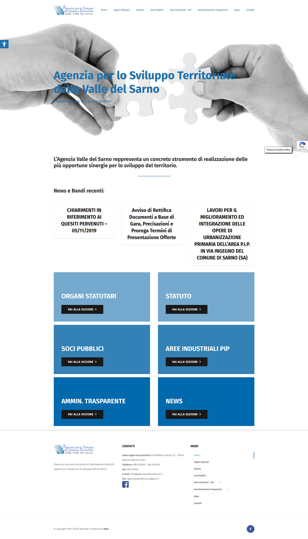 Agenzia Valle del Sarno - Setteweb.it Portfolio Sito Web WordPress 7Web-2019
