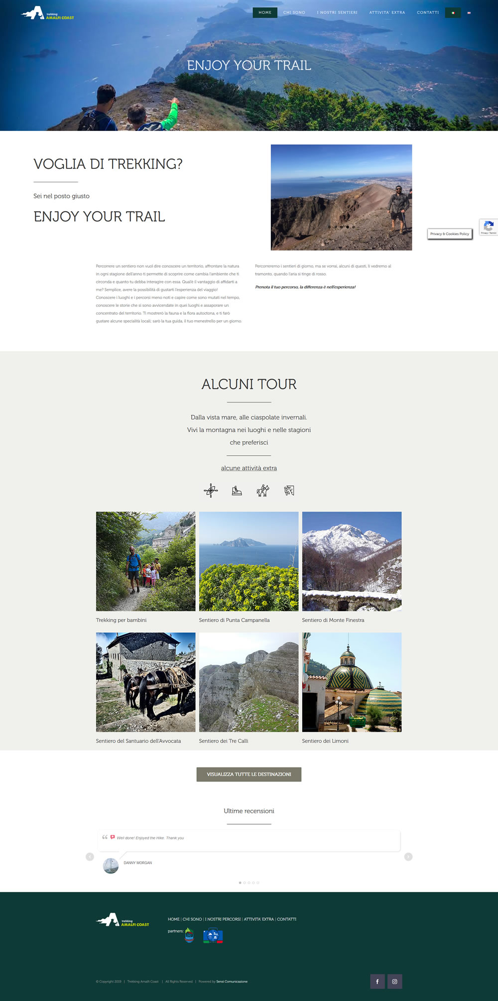 Trekking Amalfi Coast, Guida Ambientale Escursionistica - Setteweb.it Portfolio Sito Web WordPress 7Web-2019