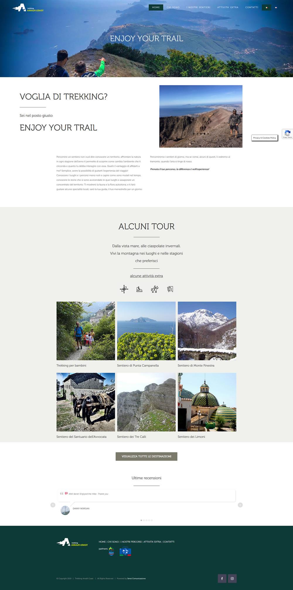 Trekking Amalfi Coast, Guida Ambientale Escursionistica - Setteweb.it Portfolio Sito Web WordPress 7Web-2019