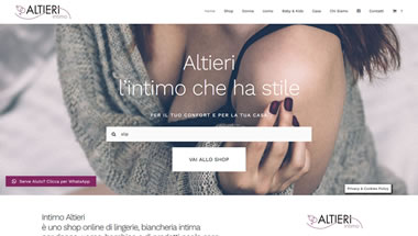 Intimo Altieri - On-line Shop - Sito web e-commerce
