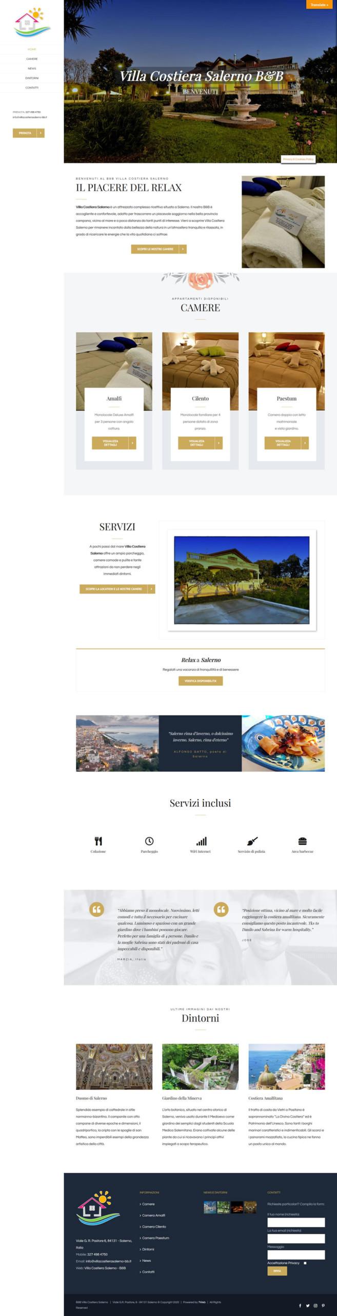 Villacostierasalerno-bb.it - Setteweb.com Portfolio Sito Web WordPress 7Web-2020