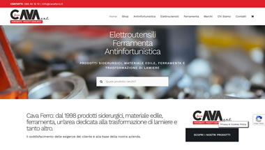 Cava Ferro - On-line Shop E-commerce Ferramenta - Sito web e-commerce