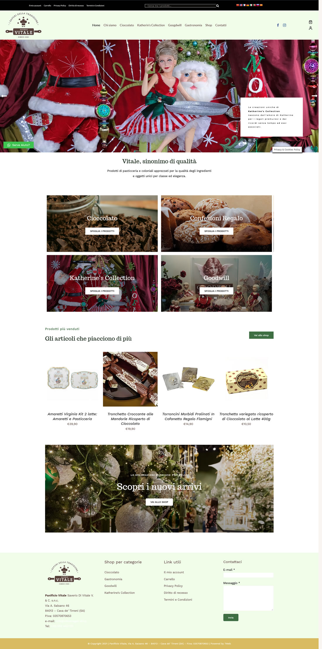 VitaleRegali.Shop - 7Web portfolio, web wordpress, woocommerce, siti web shop