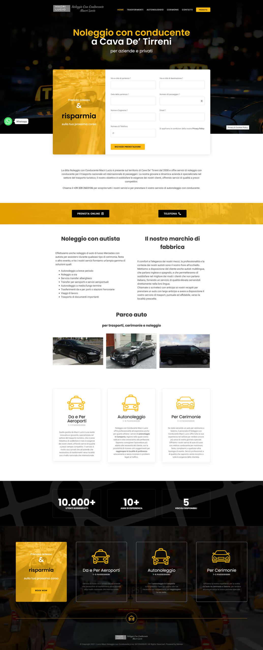 Taxi Cava - NCC a Cava de' Tirreni - 7Web Portfolio Web WordPress, siti web taxi